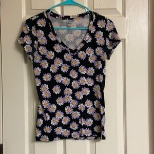 Black and purple floral top